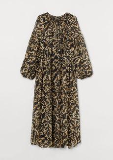 H&M H & M - Long Chiffon Dress - Black