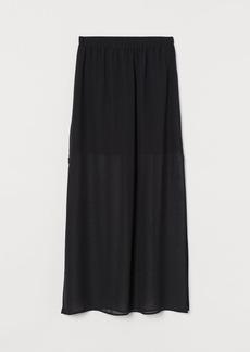 H&M H & M - Long Chiffon Skirt - Black