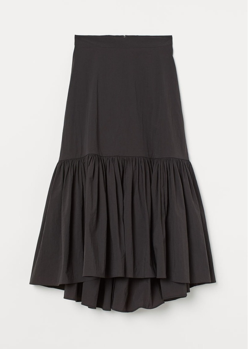H&M H & M - Long Cotton Skirt - Gray