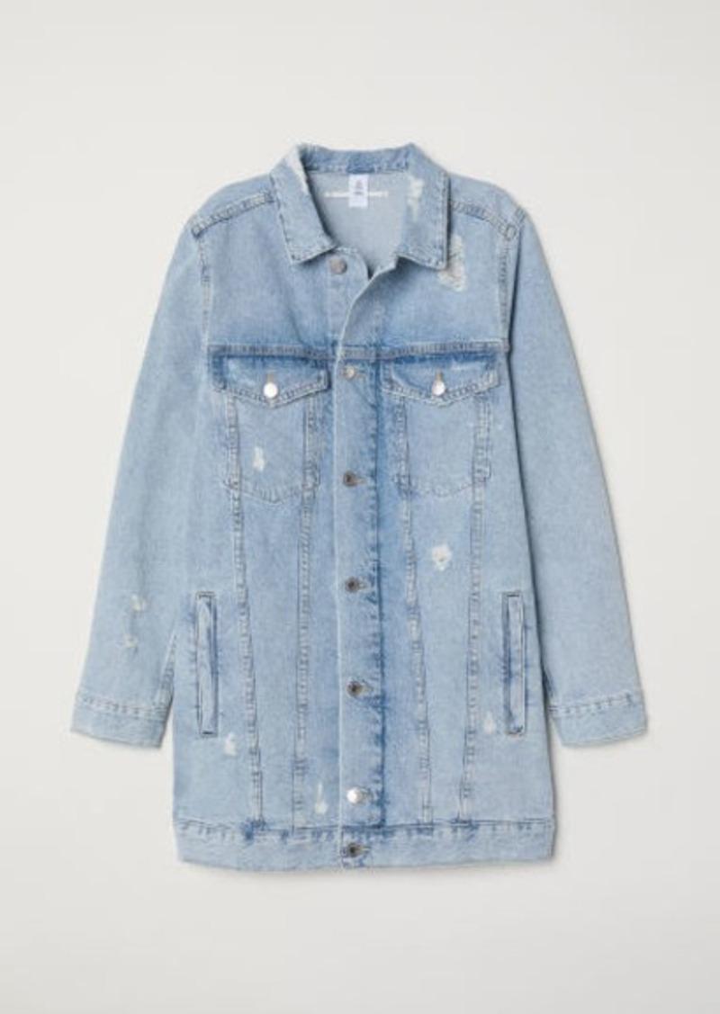 boy latest selection good reputation H & M - Long Denim Jacket - Blue