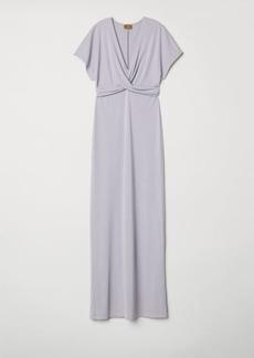 H&M H & M - Long Draped Dress - Purple