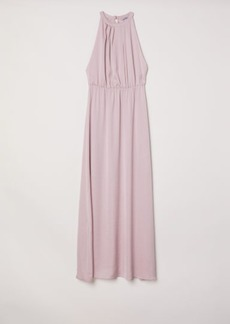 H&M H & M - Long Dress with Lace Back - Pink