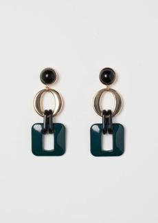 H&M H & M - Long Earrings - Green