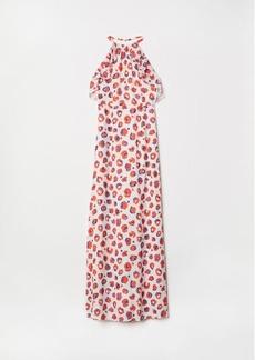 H&M H & M - Long Halterneck Dress - Beige