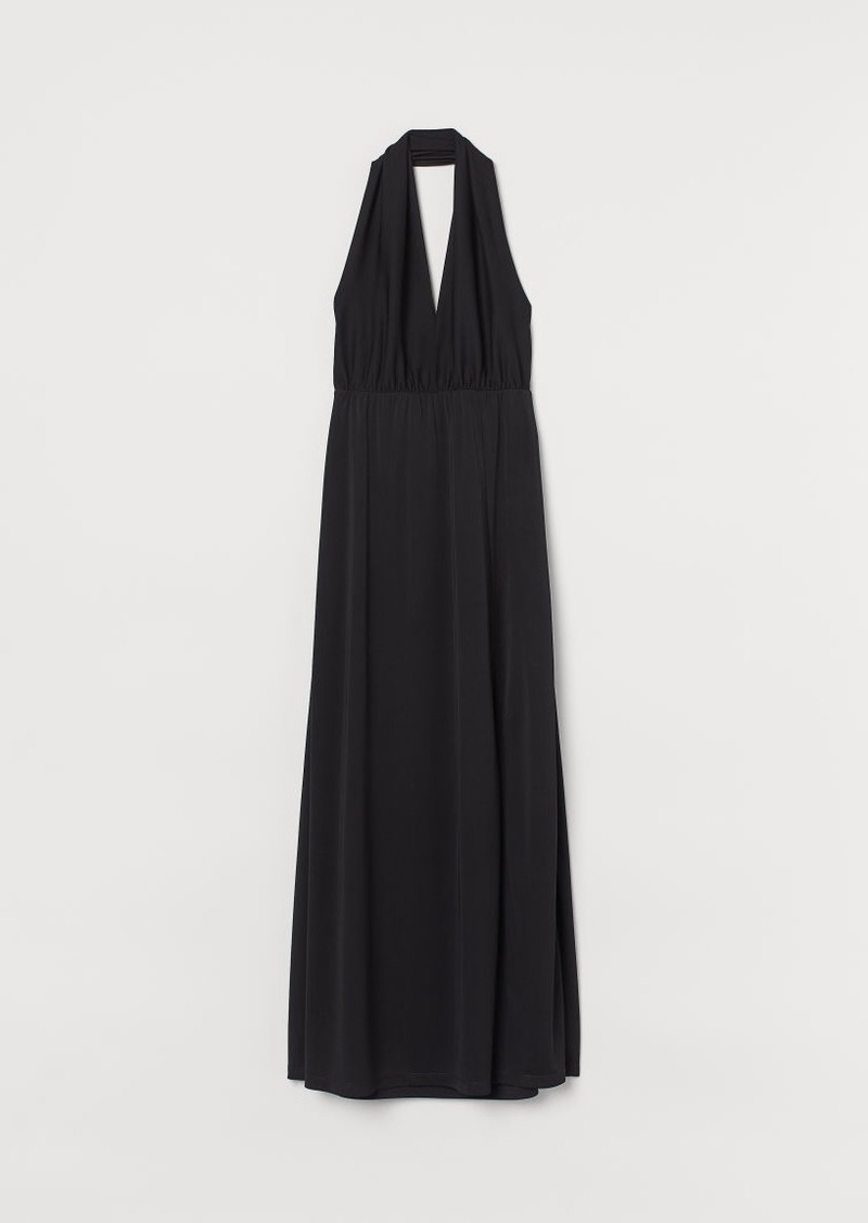 H&M H & M - Long Halterneck Dress - Black