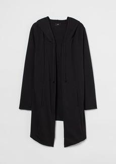 H&M H & M - Long Hooded Cardigan - Black