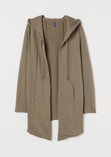 H&M H & M - Long Hooded Cardigan - Brown