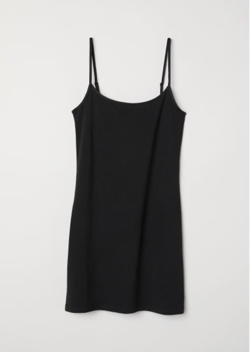 H&M H & M - Long Jersey Camisole Top - Black