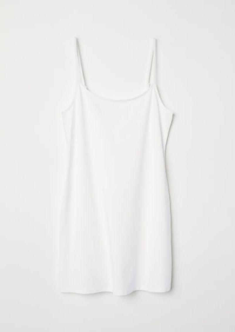 H&M H & M - Long Jersey Camisole Top - White