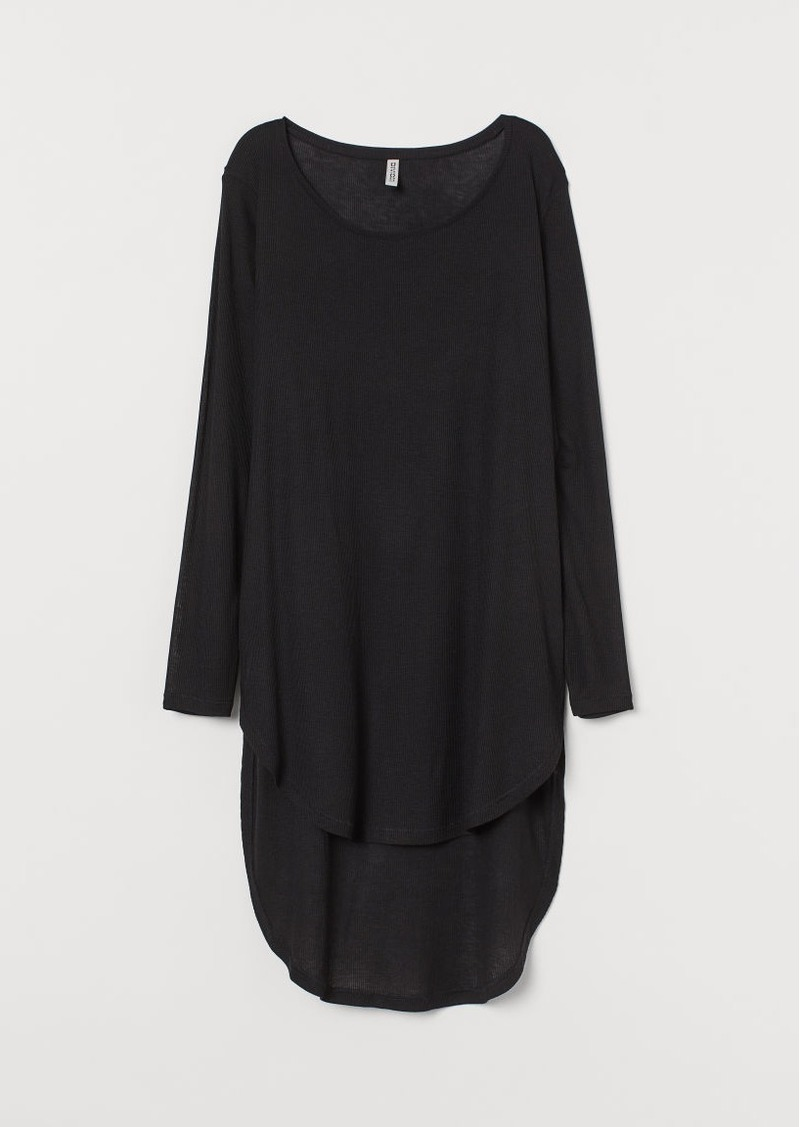 H&M H & M - Long Jersey Top - Black