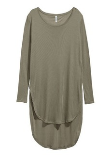 H&M H & M - Long Jersey Top - Green