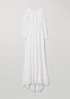 H&M H & M - Long Lace Dress - White
