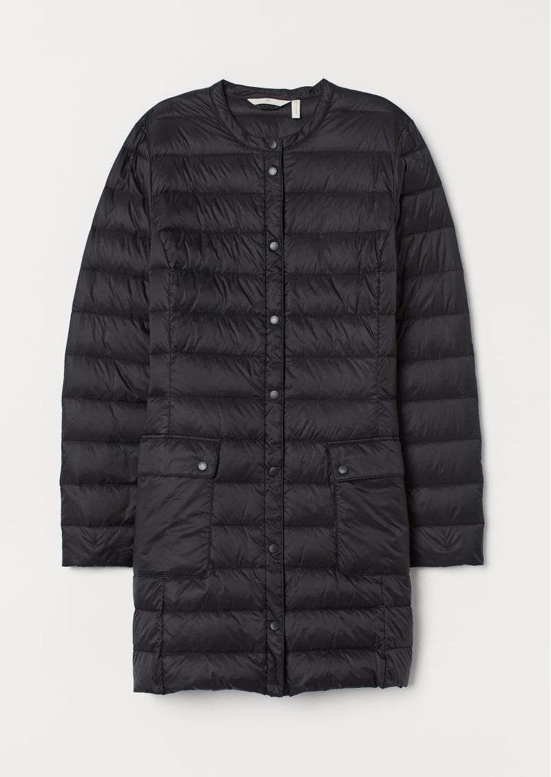 H&M H & M - Long Lightweight Down Jacket - Black