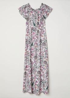 H&M H & M - Long Off-the-shoulder Dress - White