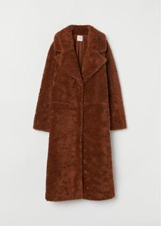 H&M H & M - Long Pile Coat - Beige