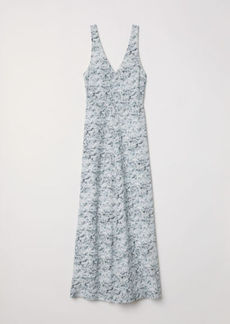 H&M H & M - Long Silk Dress - White