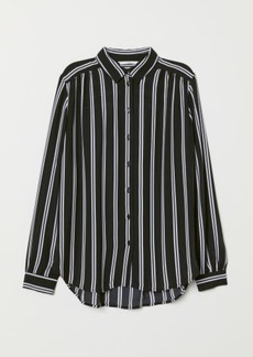 H&M H & M - Long-sleeved Blouse - Black