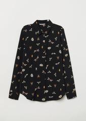 H&M H & M - Long-sleeved Blouse - Black