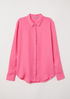 H&M H & M - Long-sleeved Blouse - Pink