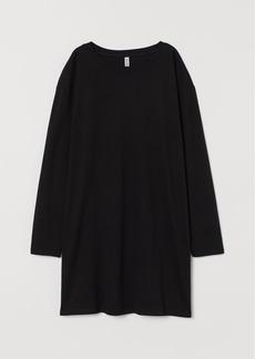 H&M H & M - Long-sleeved Dress - Black