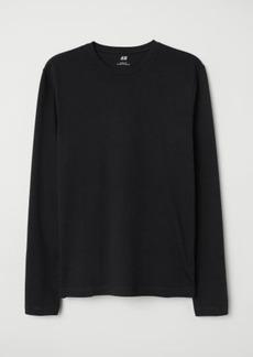 H&M H & M - Long-sleeved Jersey Shirt - Black