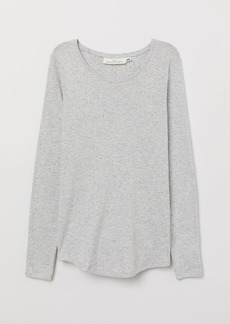 H&M H & M - Long-sleeved Jersey Top - Gray