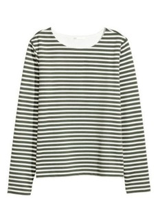 H&M H & M - Long-sleeved Jersey Top - Green