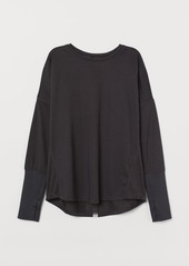 H&M H & M - Long-sleeved Sports Top - Black