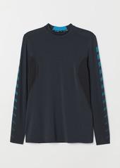 H&M H & M - Long-sleeved Sports Shirt - Black