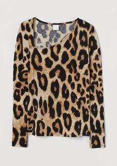 H&M H & M - Long-sleeved Top - Beige