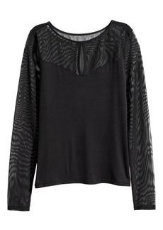 H&M H & M - Long-sleeved Top - Black
