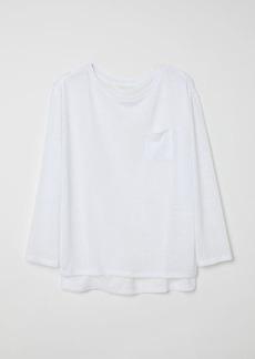 H&M H & M - Long-sleeved Top - White