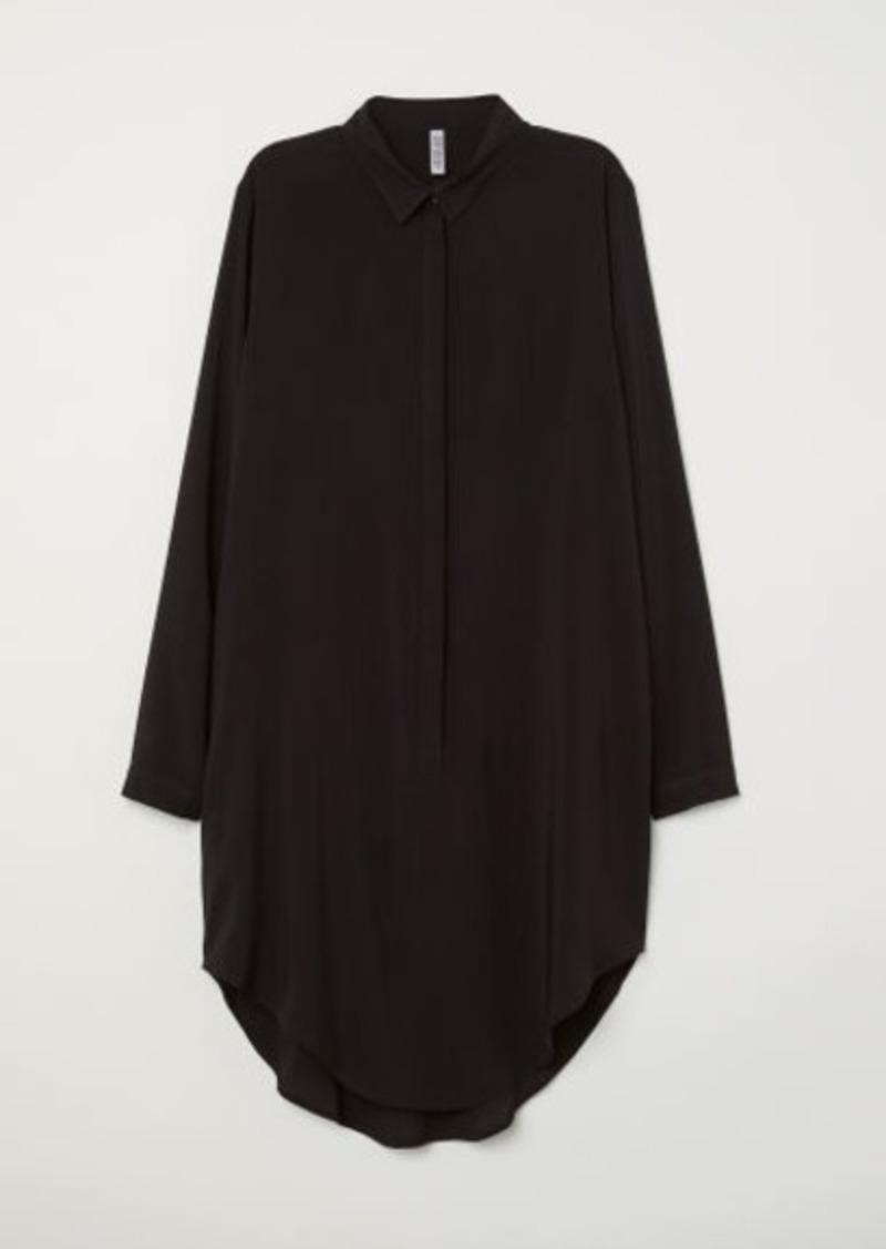 H&M H & M - Long-sleeved Tunic - Black