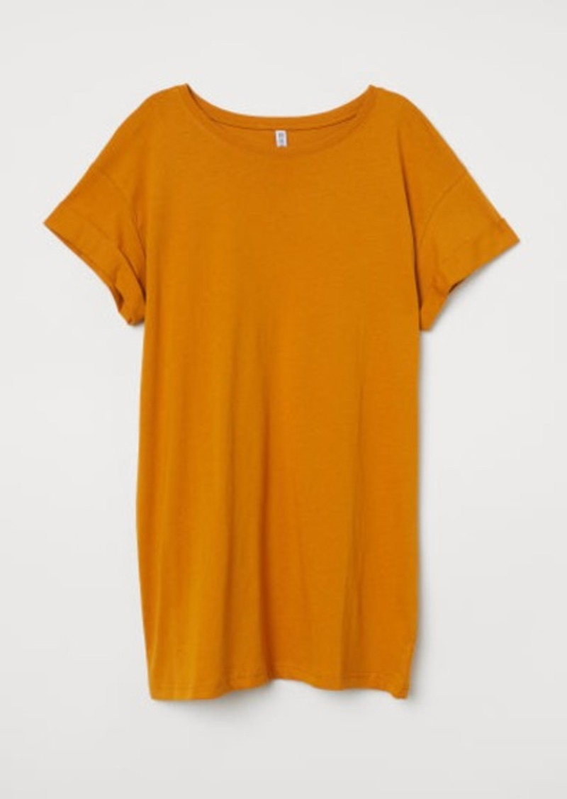 H&M H & M - Long T-shirt - Yellow