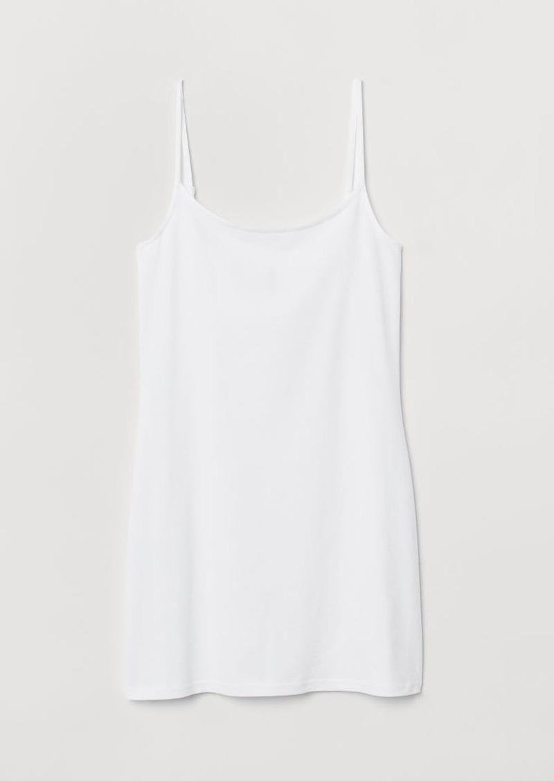 H&M H & M - Long Tank Top - White