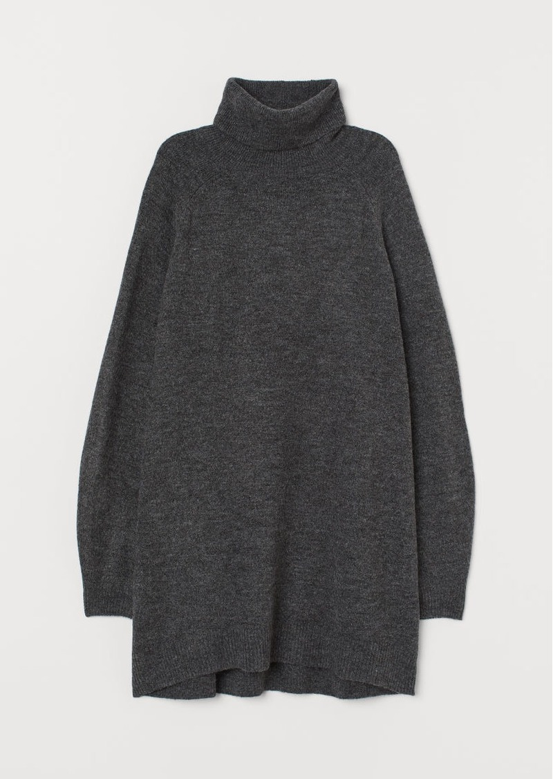 H&M H & M - Long Turtleneck Sweater - Gray