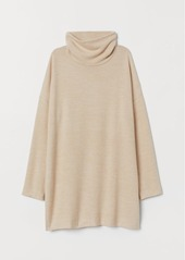 H&M H & M - Long Turtleneck Top - Beige