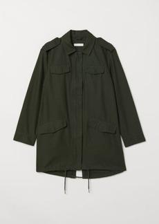 H&M H & M - Long Utility Jacket - Green