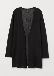 H&M H & M - Loose-knit Cardigan - Black