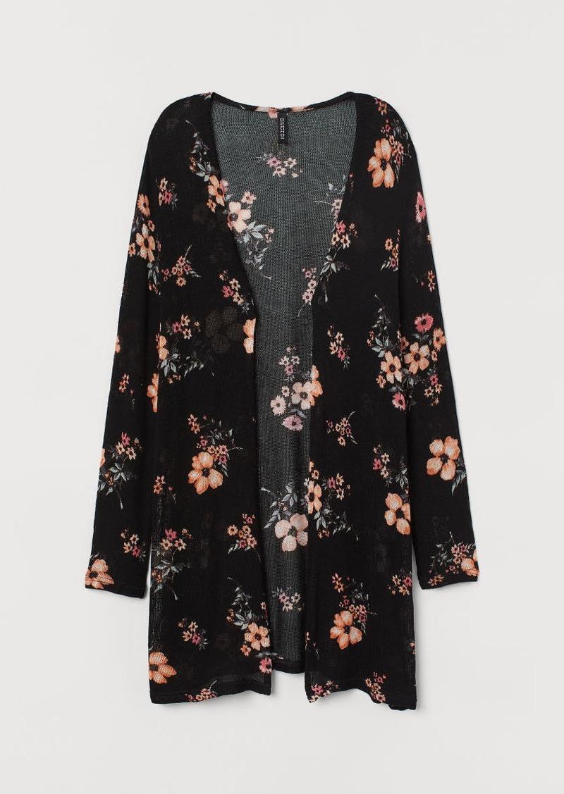 H&M H & M - Loose-knit Cardigan - Black