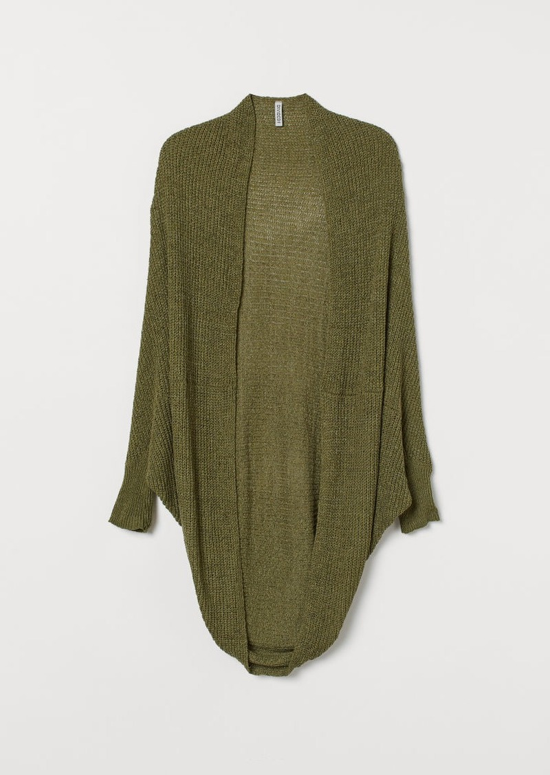 H&M H & M - Loose-knit Cardigan - Green