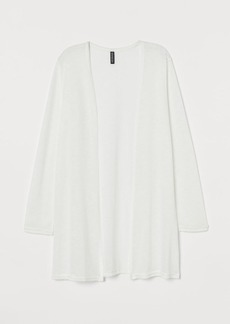 H&M H & M - Loose-knit Cardigan - White