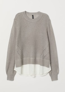 H&M H & M - Loose-knit Sweater - Gray
