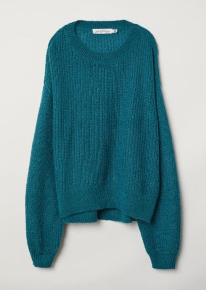 H&M H & M - Loose-knit Sweater - Turquoise