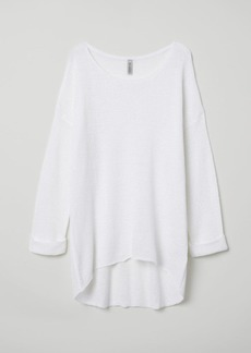 H&M H & M - Loose-knit Sweater - White