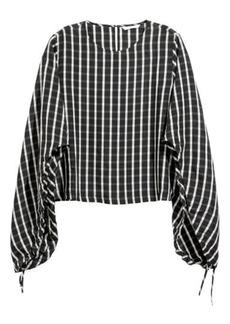 H&M H & M - Lyocell-blend Blouse - Black