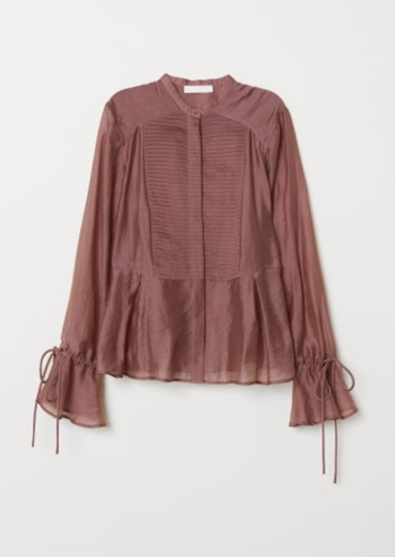 2085c2ca H&M H & M - Lyocell-blend Blouse - Pink | Casual Shirts