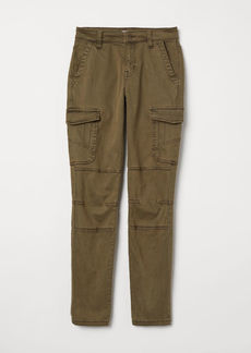 H&M H & M - Lyocell-blend Cargo Pants - Green