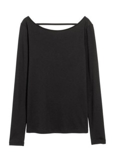H&M H & M - Lyocell-blend Jersey Top - Black