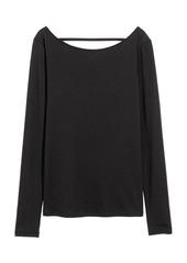 H&M H & M - Lyocell-blend Jersey Top - Black